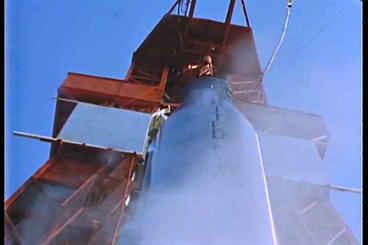 Friendship 7 Rocket Of The Mercury Project Prepare stock footage