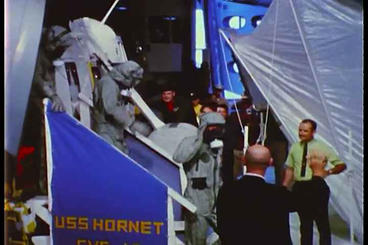 Astronauts From Apollo 11 Make A Triumphant Return stock footage