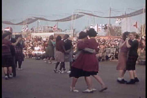 Swing Dancing From The 1939 NYC World Fair stock footage