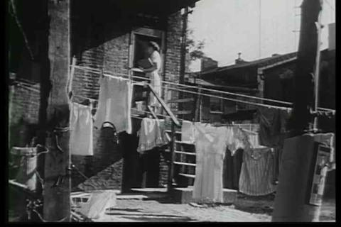 A Social Worker Tours A Blighted Neighborhood Hopi stock footage