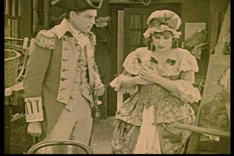Mrs Vernon tells general howe about the spies at B Footage