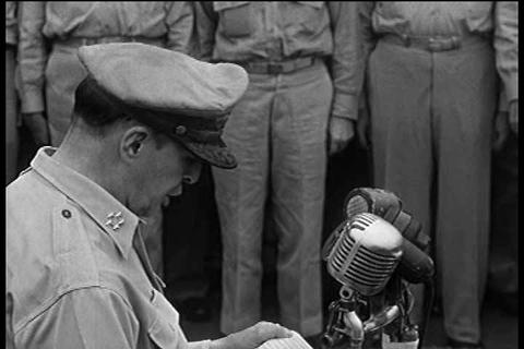 The formal surrender of Japan in World War Two abo Footage