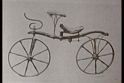 The bicycle is about 150 years old today Footage