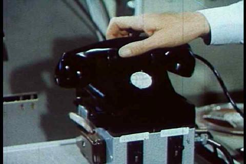 The first telephone transmission via satellite Footage