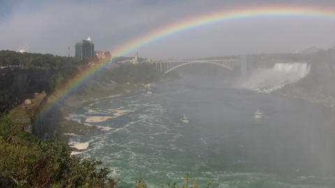 Beautiful scenic of Niagara Falls from Canadian side (High Definition) Live Action