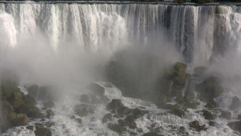 Beautiful scenic of Niagara Falls from Canadian side... Stock Video Footage