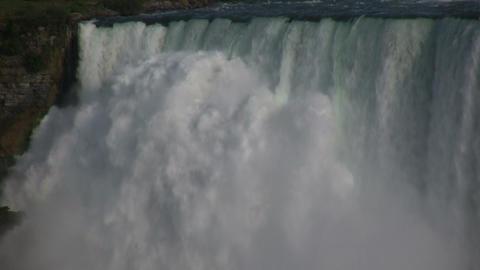 Close-up of water falling over the edge at Niagara Falls Footage