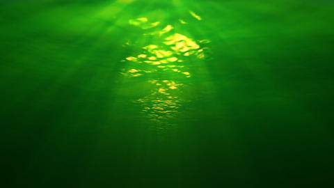Underwater scene with sunrays penetrating the murkey water (looping, high definition 1080p) Animation