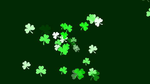 Clovers continuously shoot towards the screen (high... Stock Video Footage
