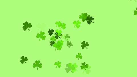 Clovers continuously shoot towards the screen (high definition 1080p) Animation