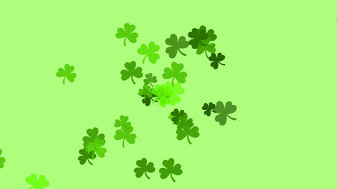 Clovers continuously shoot towards the screen (high…, Stock Animation