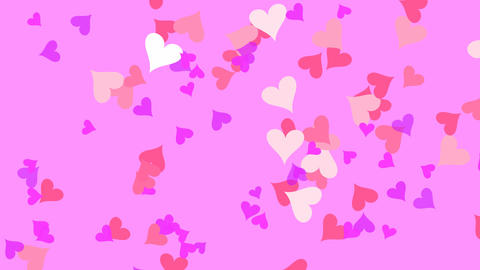 Small Hearts Pink Stock Video Footage