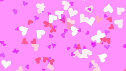 Small Hearts Pink Animation