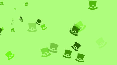 Irish hats are drifting across the screen (high definition 1080p) Animation