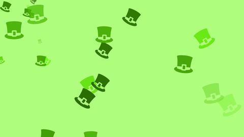 Irish hats are drifting across the screen (high... Stock Video Footage