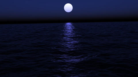 Lost At Sea Moonlight Stock Video Footage