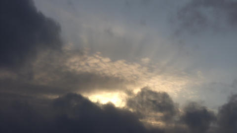 Clouds and Sunrays Footage