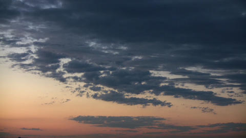 Clouds Sunset Stock Video Footage