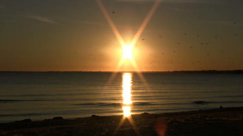 Sun over Waters Stock Video Footage
