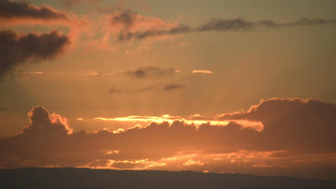 Beautiful timelapsed sunrise through the clouds (Hight... Stock Video Footage