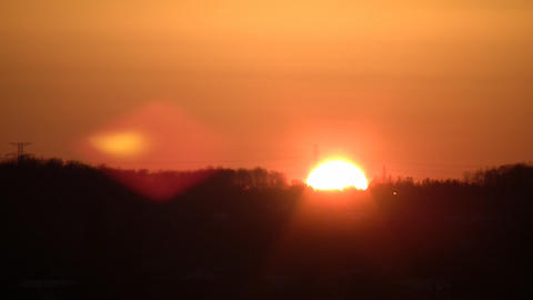 Sunset over Mountains Stock Video Footage