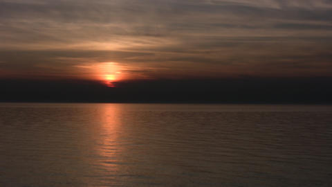 Sunset over Waters Footage