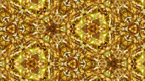 Organic kaleidoscope from growing alfalfa vegetables 9b Stock Video Footage
