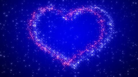 Glitter Heart KH BfA HD Stock Video Footage
