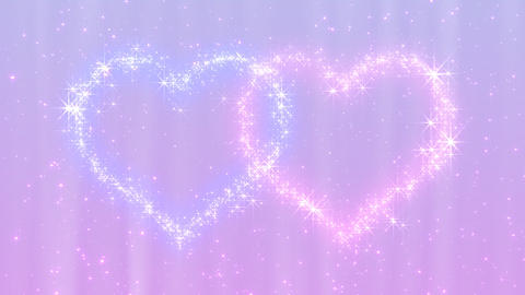 Glitter Heart KH BfD HD Stock Video Footage