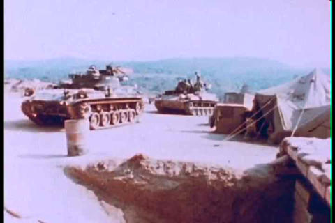 The fourth infantry division battles enemy forces  Footage