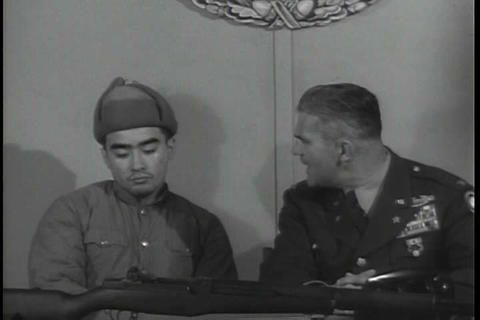 A narrator interviews a Chinese communist during t Live Action