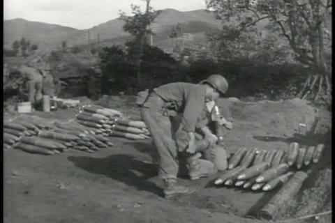 The 24th infantry division battles communist force Footage