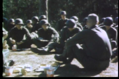 A sergeant visits an infantry training camp in Geo Footage