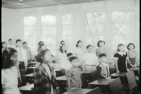 Japanese-Americans Profuse Their Loyalty To The Un stock footage