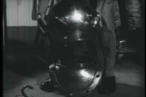 Each piece of deep sea diving suit is discussed in Live Action