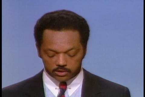Jesse Jackson Delivers A Speech At The 1984 Democr stock footage