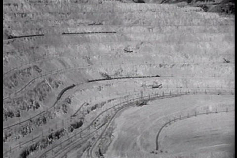 Utah is home to an immense strip mine in the 1940s Footage