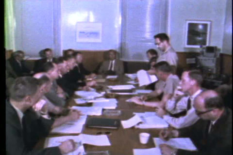 A Conference Is Held To Figure Out How And What To stock footage