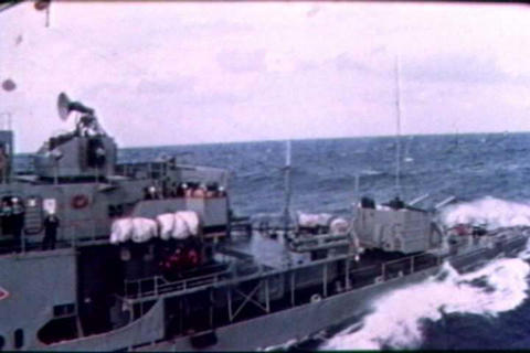 Naval crewmen sail the high seas and resupply thei Live Action