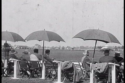 A polo match is held in Detroit during the 1910s Footage