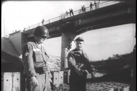 Members of the United States military assist commu Footage