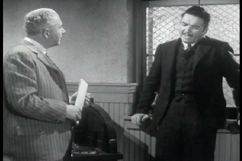 Two businessmen discuss the idea of giving pre-emp Footage
