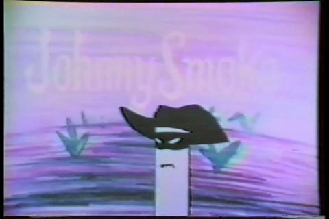 A 1960s cartoon criticizing a personified cigarett Footage