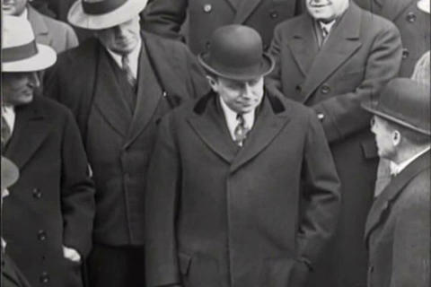 Economist Julius Klein Visits Businessmen In Detro stock footage
