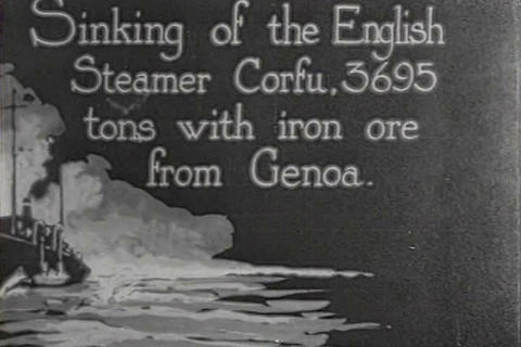 Germany builds U-35 submarines in 1917 and capture Footage