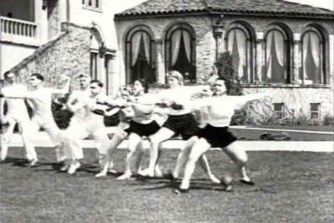 Fencing matches in 1934 Footage