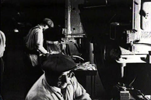 Men work in factories after the great depression i Live Action