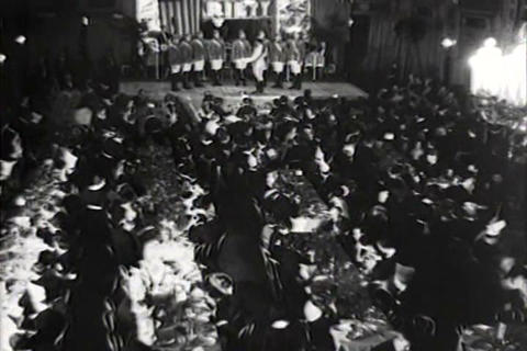 A Large Society Gathering In Detroit In 1934 stock footage