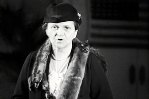 Secretary of Labor Frances Perkins spends a busy d Live Action