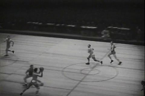 Good footage of basketball games in 1941 Footage